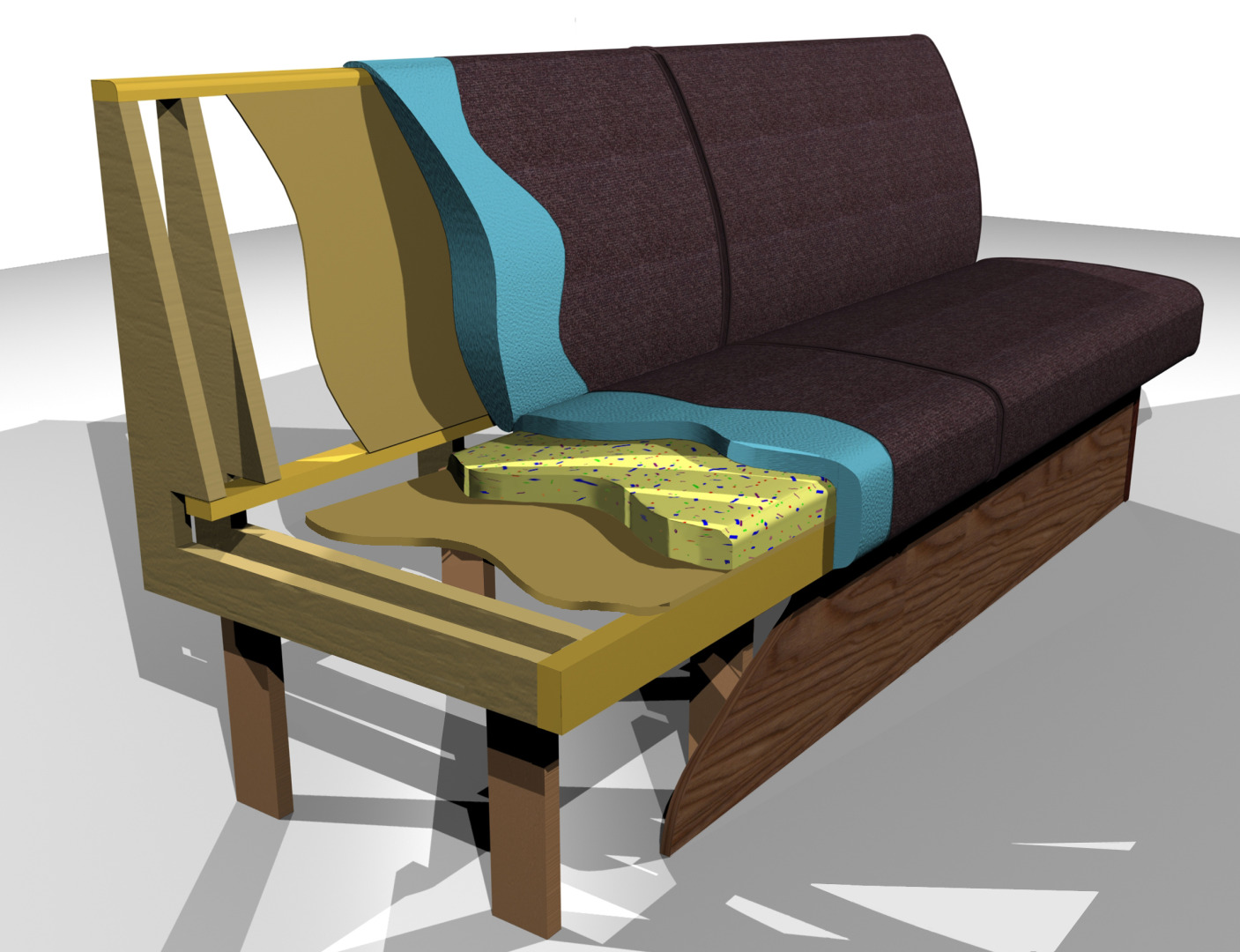 3D CAD Visual - Sprung Based Seating
