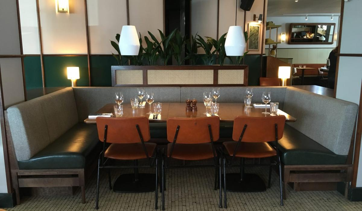 Plain back banquette seating - Foxlow Balham