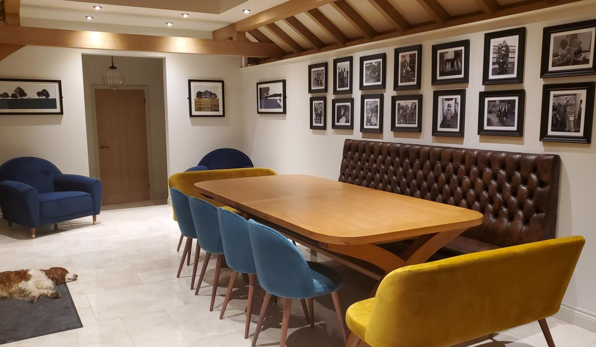 Residential Dining Banquette | Leather Deep Button | Craftwood Interiors Back