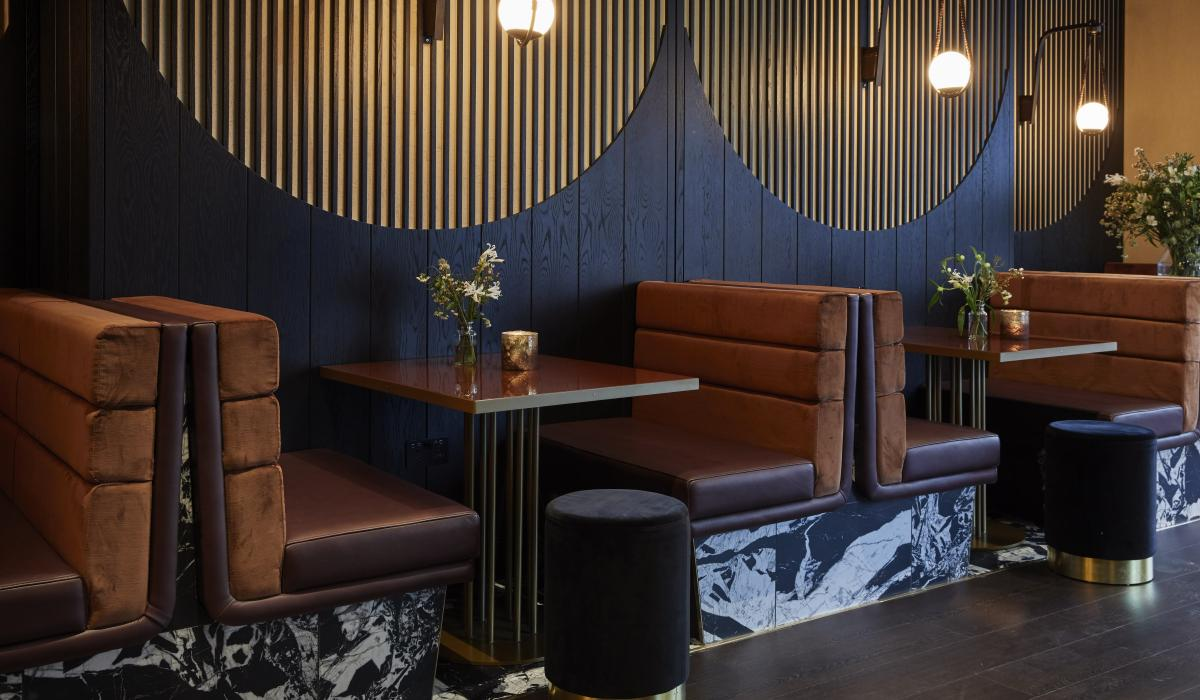 Rollback restaurant booth seating | Craftwood Interiors Ltd
