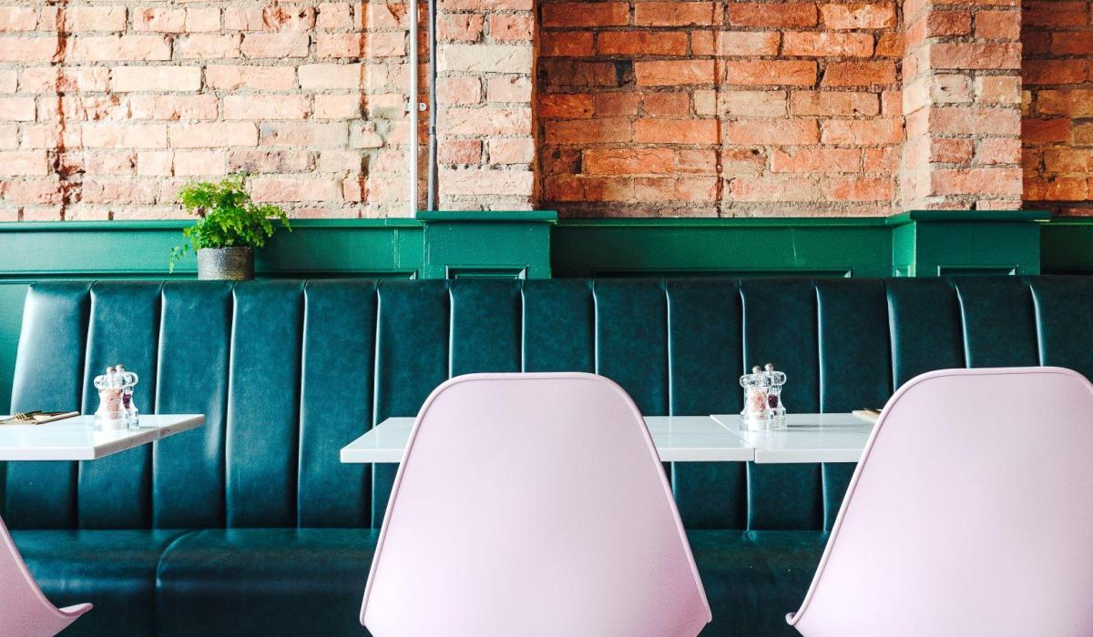 Faux Leather Banquette Restaurant Seating